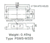 Dimensions  in mm of PSMS-M325